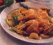 Galletto Vallespluga ai porri e patate