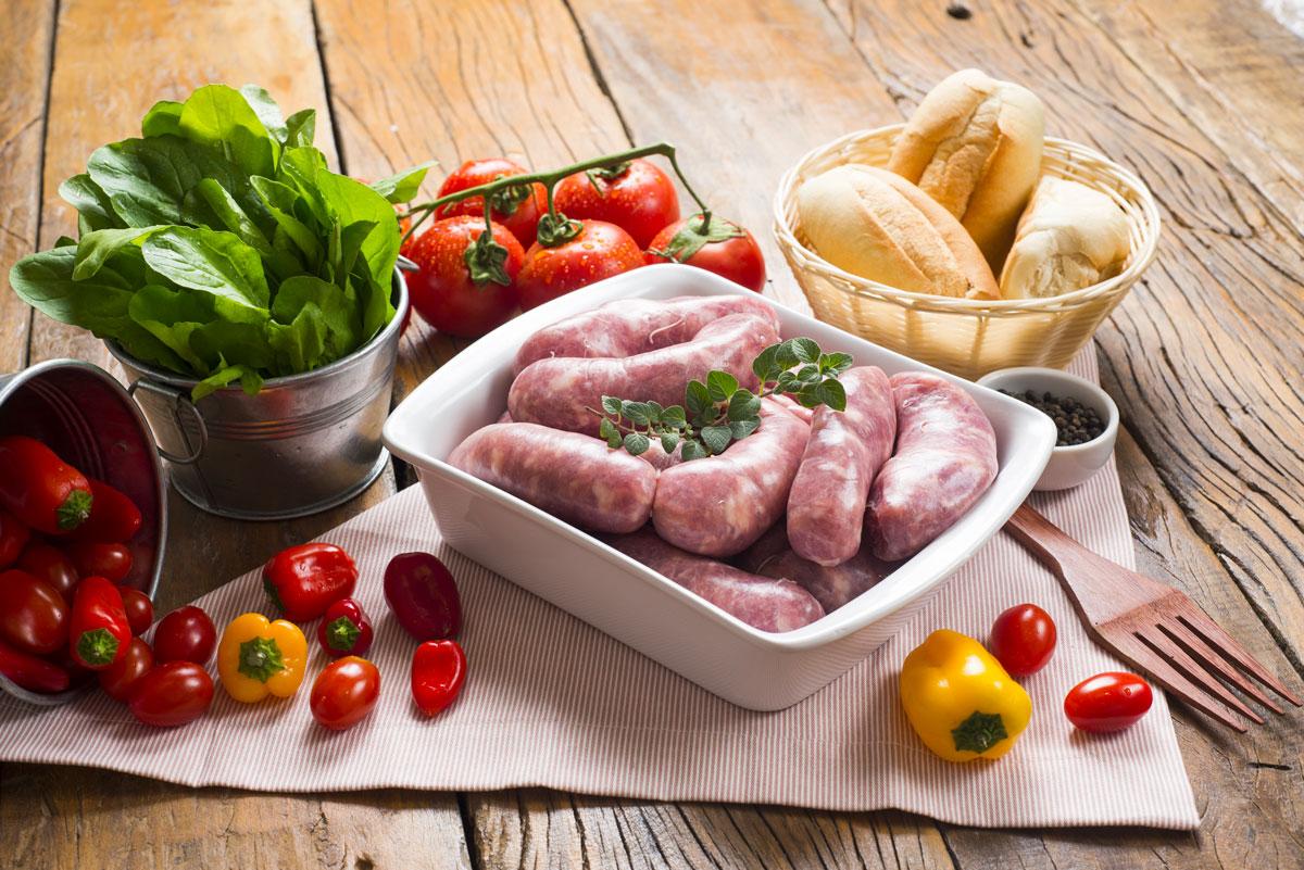 ricetta salsicce di galletto con verdure